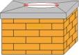 Měření komínu se základovou deskou pro komínový nástavec EKON pro zvýšení tahu komínu