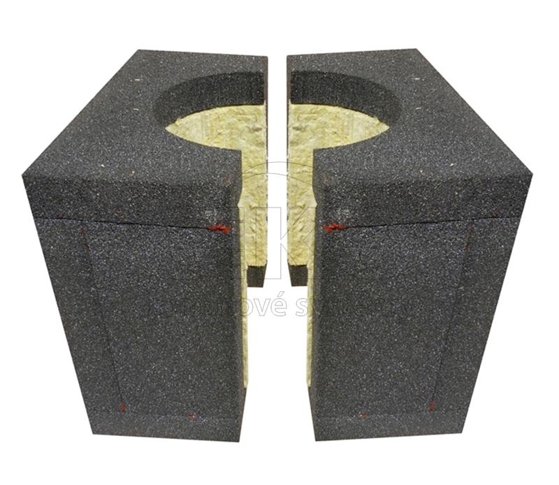 parotěsný prostup hořlavou konstrukcí pro nerezový komín
